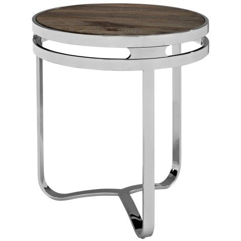 provision wood top side table brown buy at dezignable
