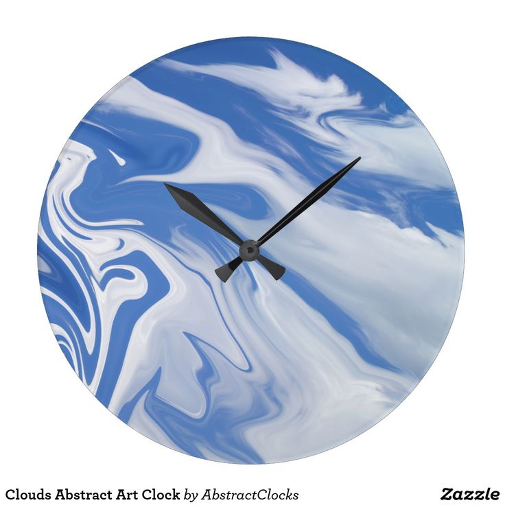 Clouds Abstract Art Clock