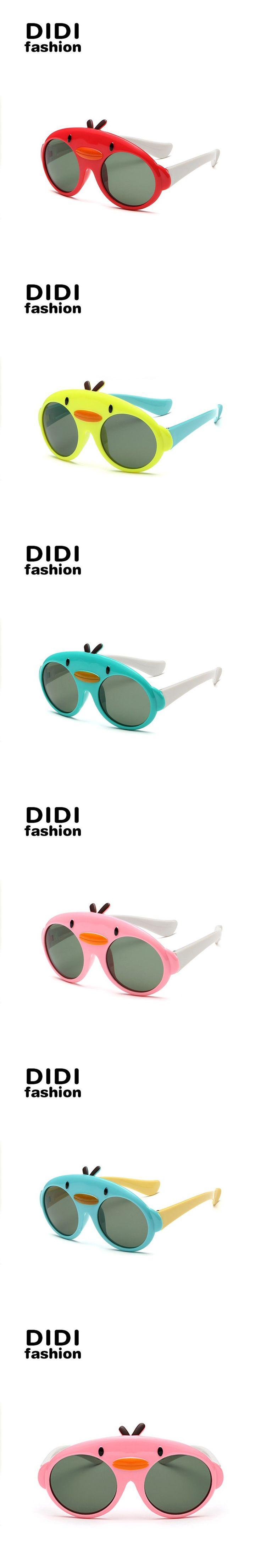 DIDI Polarized Round Kids Sunglasses Children New Cute Girls Boys Outdoor Eyewear Cool Cartoon Brand Shades Oculos De Grau C403
