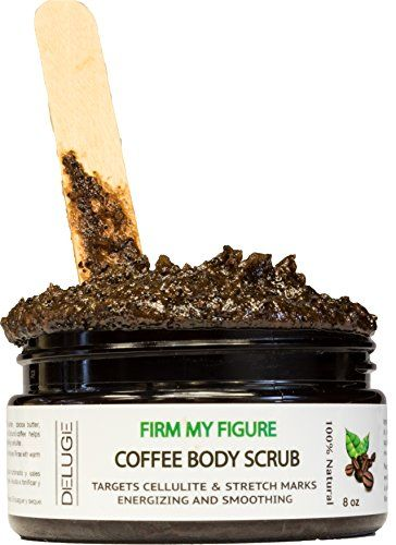 Organic Coffee Body Scrub Tightens Tones Reduces Cellulite 100 Natural 8 OZ >>> Visit the image link more details.