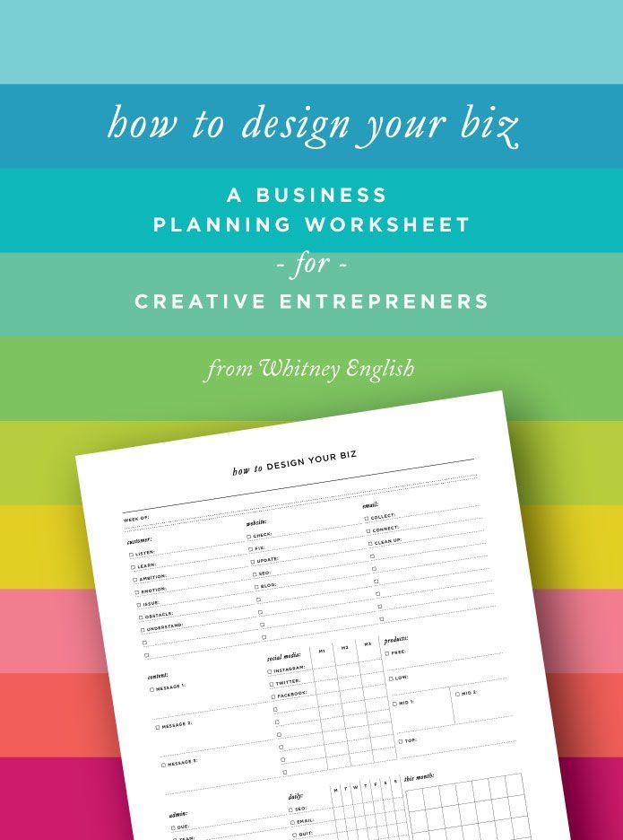 How To Design Your Biz: A Business Planning Worksheet for Creative Entrepreneurs