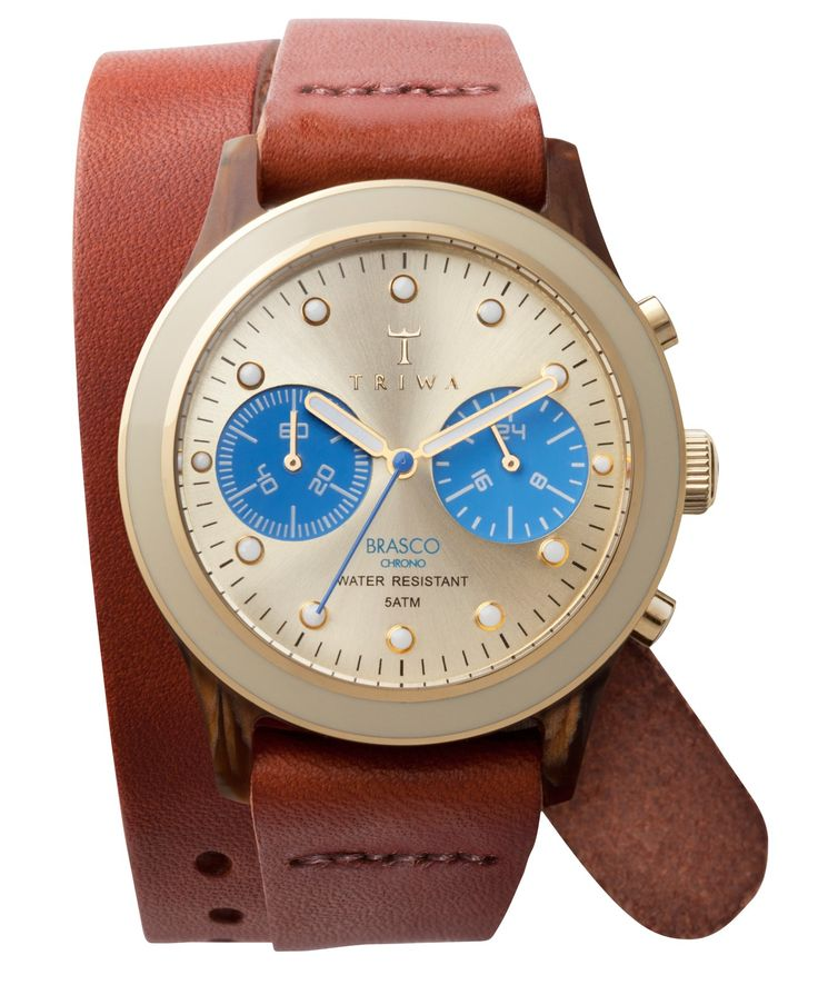 Triwa Turtle Twist Brasco Chrono Beige