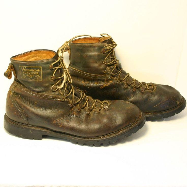 Herman Survivor Vtg Lumberjack Boots 13 Insulated Hunting Sportsman Work Trashed #Herman #Work