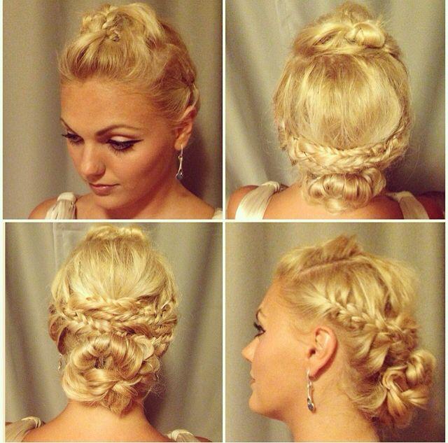 Braided blonde hair #wedding #braid #blonde
