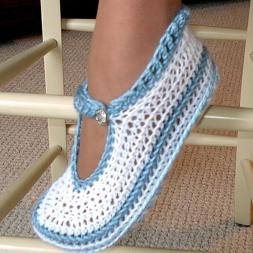 Free Crochet Slipper Patterns : of free crochet slipper patterns Mary Janes slippers Crochet Pattern ...