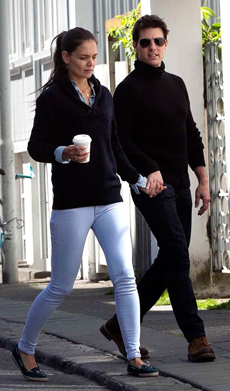 The last picture of Tom Cruise and Katie Holmes together as a couple, June 16th 2012 in Iceland. And another celebrity couple bites the dust.