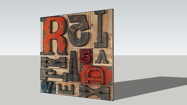 Cadre décoratif mural, Maisons du monde, Réf : 130.517 Prix :149€ - 3D Warehouse