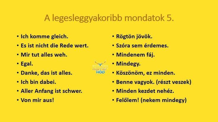 A német tanulás elején .