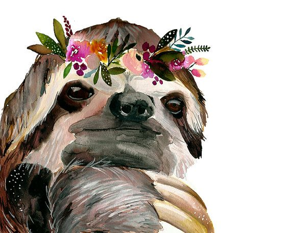 Hey, I found this really awesome Etsy listing at https://www.etsy.com/listing/257117052/sloth-print