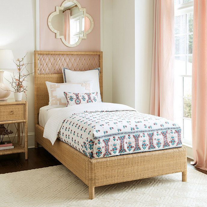 Cool Suzanne Kasler Southport Rattan Bed Nautical Style Download Free Architecture Designs Intelgarnamadebymaigaardcom