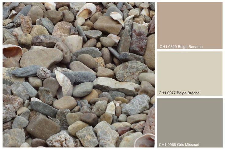 Déclinaison minérale - Cette association de tons beige-rosé et beige grisé inspire une atmosphère naturelle, douce et sobre aux pièces à vivre. www.chromaticstore.com