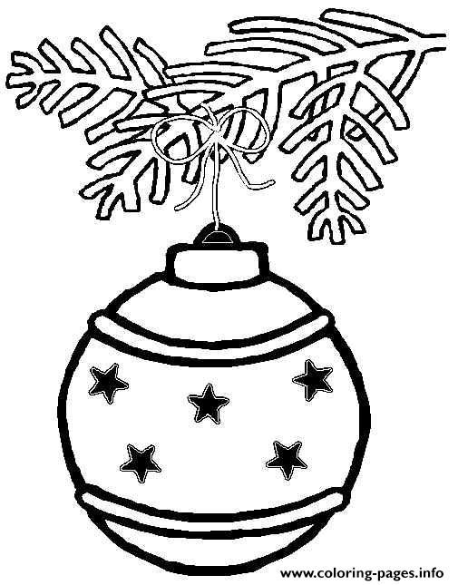 Printable S Christmas Ornament Coloring Pages And Book To Print For Free Find More Online Kids Adults Of