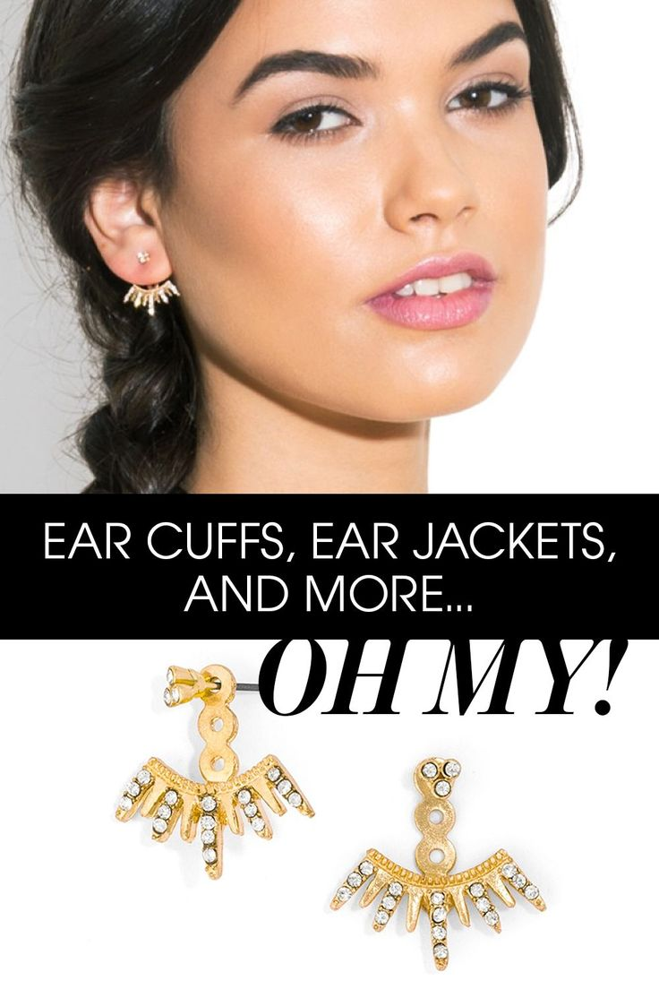 These spiked ear jacket are the perfect way to add some edgy glamour to day or night looks.