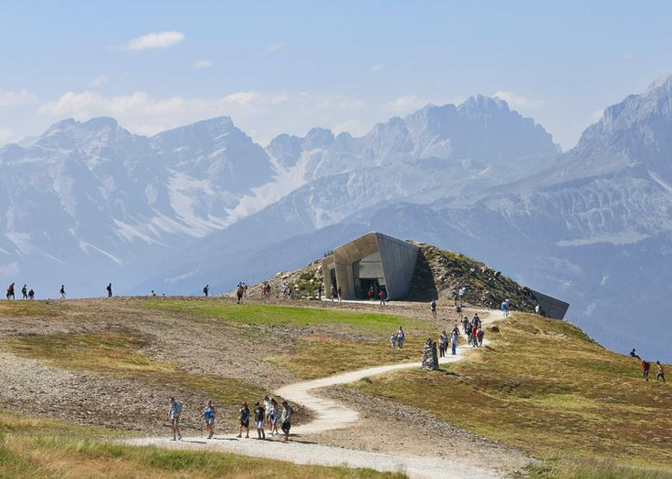 Hufton + Crow's photographs of Zaha's Messner Mountain Museum
