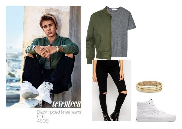 """""""Justin Bieber seventeen photo shoot (affordable inspired outfit)"""" by princesshannah00 on Polyvore featuring Justin Bieber, T By Alexander Wang, WearAll, Vans and Chico's"""
