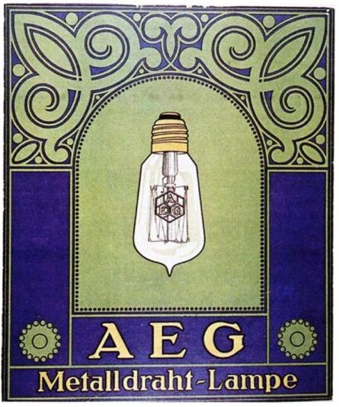 Vintage 'AEG' Poster Design by Peter Behrens