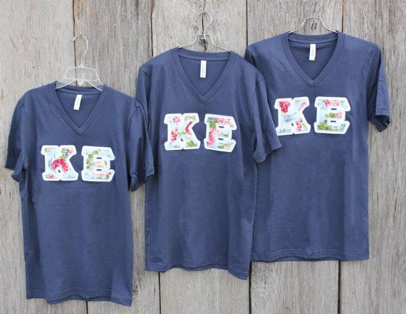 Create your own letters!!! These are cure Sorority block letter shirts. I can…