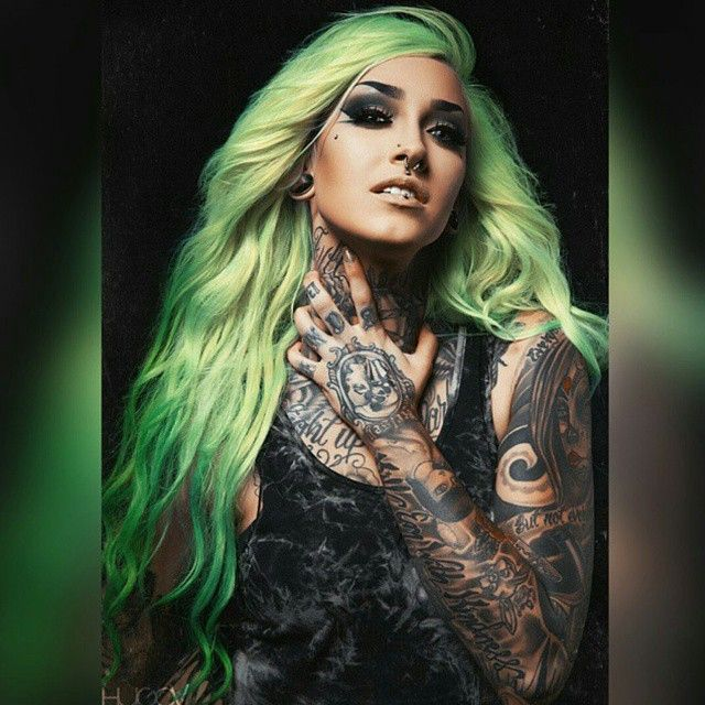 Tattoo Fixers Psychobilly Girl Punk: 406 Best Images About Colored Hair Aka Hurr Lol On