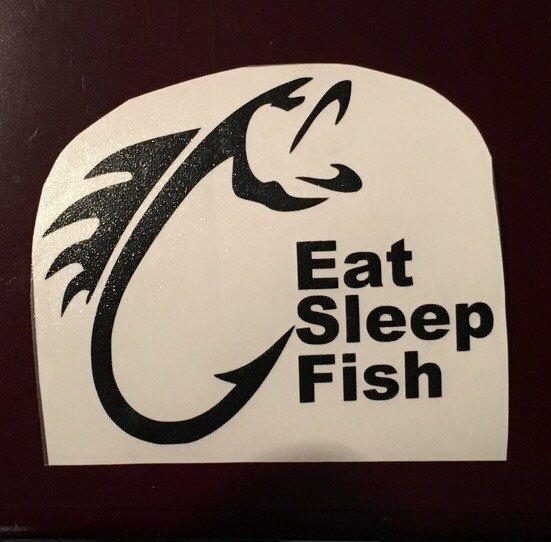 Fish Hook Decal Eat Sleep Yeti Bass Shops Eat Sleep And