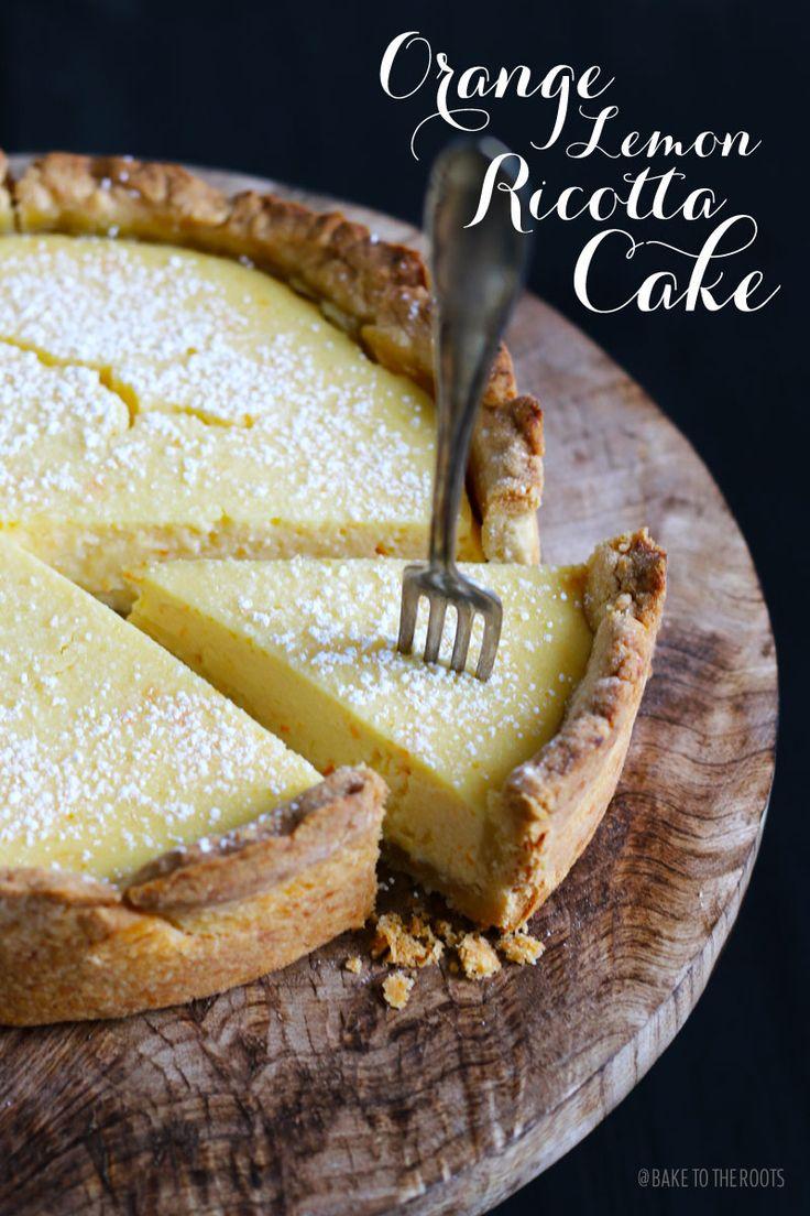 Orange Lemon Ricotta Cake | Bake to the roots