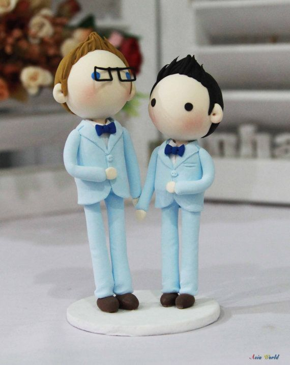 Gay+Wedding+Cake+topper+clay+doll++Same+sex+Clay+by+AsiaWorld,+$63.50