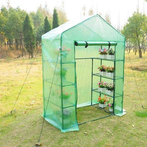 "Aosom | Outsunny 56"" x 30"" x 78"" Portable Greenhouse w/ Shelves"
