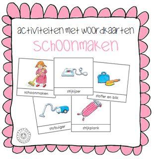 Activiteiten met woordkaarten | Thema SCHOONMAKEN