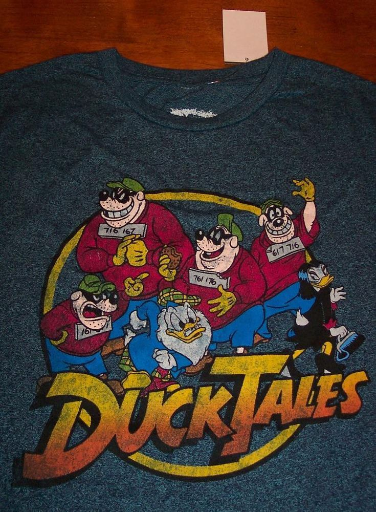 A Ducktales T Shirt Featuring The Beagle Boys And Fellow