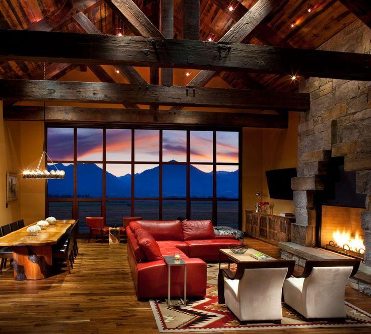 Windows, view, fireplace!