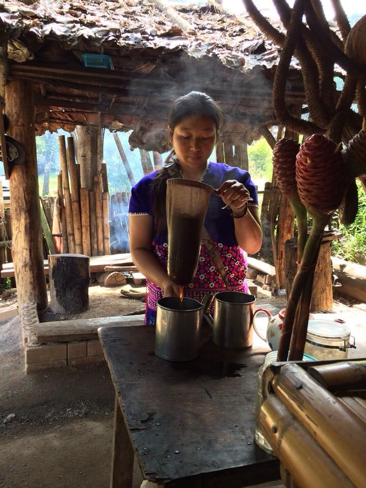 Villager making us coffee.. Amphoe Muang Chiang Mai, Thailand