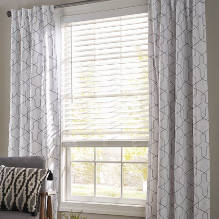 Better Homes and Garden 2 inch Faux Wood Cordless Blind, White