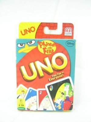 Phineas and Ferb UNO Card Game: Uno Cards, Ferb Games, Crazy Uno, Ferb Uno, Uno Phineas, Phineas And Ferb, Friends Families, Cards Games, Uno Games