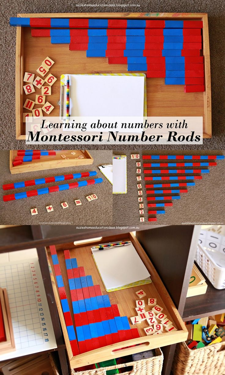 Learning about numbers with DIY Montessori Number Rods.