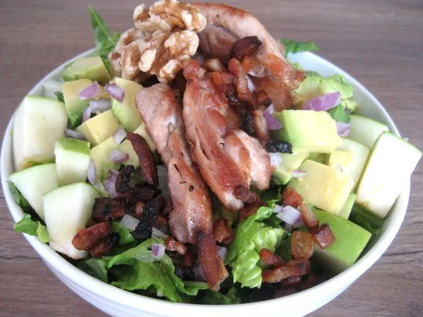 Bacon, Chicken and Avocado Salad