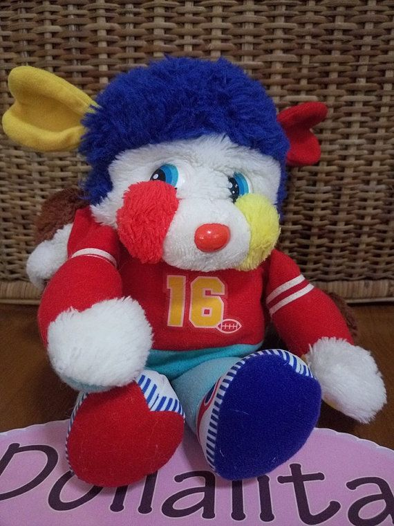 Mattel 1980s Popples Touch Down Football Rugby Sports by Dollalita