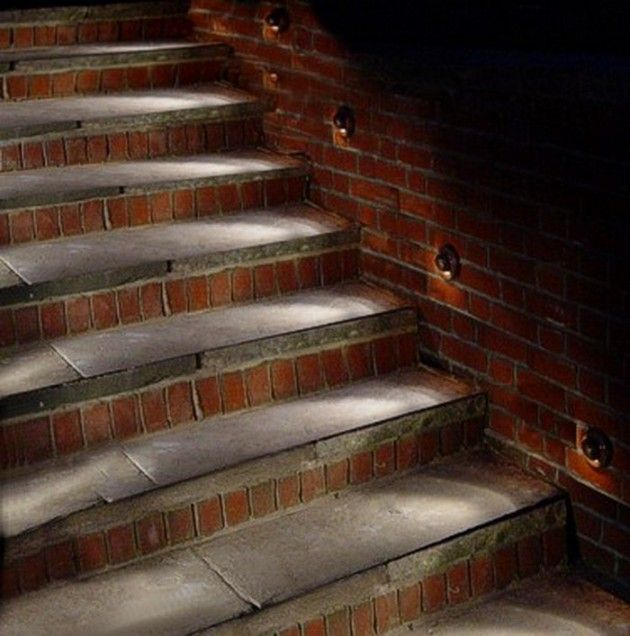 27 attractive outdoor steps lighting designs like the lights on the side rather than on