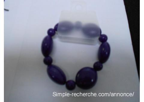 Bracelet perle noir sabrininord Auby - Simple recherche petite annonce