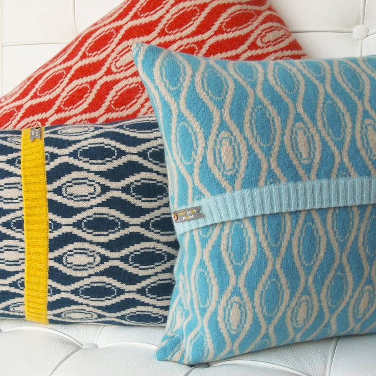 Knitted Hoop Cushions by Seven Gauge Studios