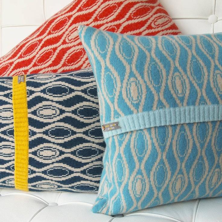 Knitted Hoop Cushions by Seven Gauge Studios