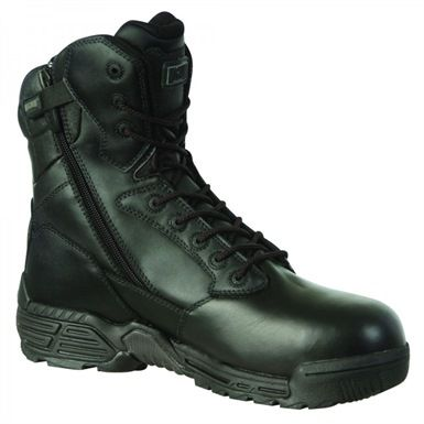 The Magnum 55341 Stealth Force 8.0 Leather CT CP SZ WPI Safety Boots are non-metallic and waterproof. They are tested and certified to European S3 standard en 20345:2004 for occupational footwear.