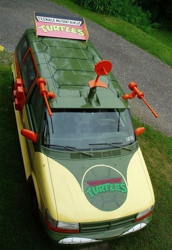 teenage mutant ninja turtle van