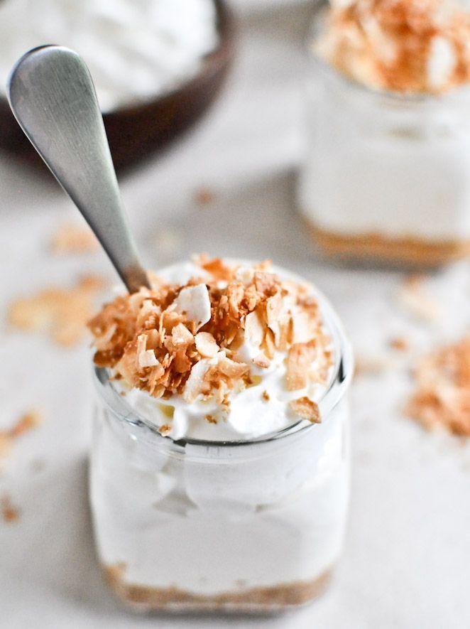 No-bake coconut cream cheese cake.