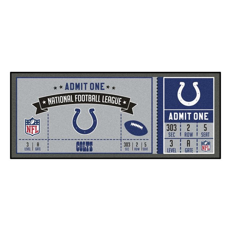 """NFL - Indianapolis Colts Ticket Runner 30""""x72"""""""