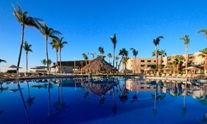 Groupon - ✈ 4-Night All-Inclusive Holiday Inn Los Cabos Stay w/ Air. Price/Person Based on Double Occupancy (Buy 1 Groupon/Person) in Mexico. Groupon deal price: $499
