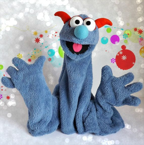 how to make a monster hand puppet