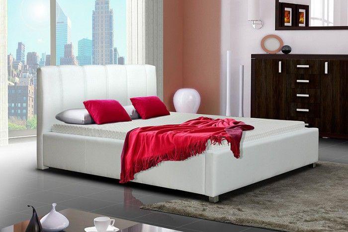 Postel I - 160x200 cm, matracový rám, úložný prostor (bílá) | Jena nábytek