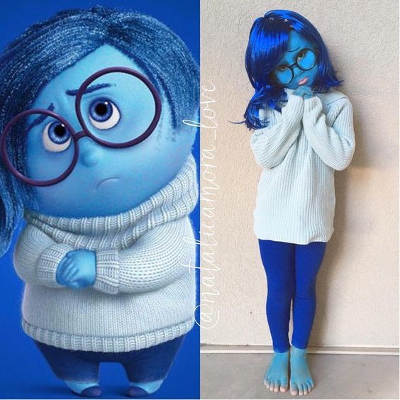 DIY Inside Out Sadness Halloween Costume Idea