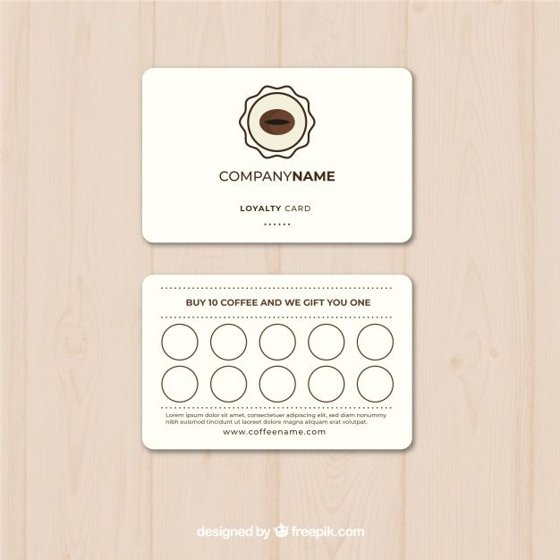 Coffee Loyalty Card Template Loyalty Card Template Loyalty Card Card Template