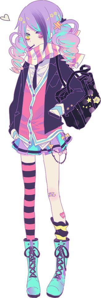 Pastel anime girl render by Myh-chan.deviantart.com on @DeviantArt