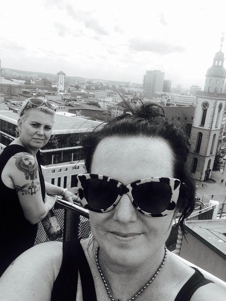 On the roof on Frankfurt